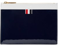 Thom Browne Tricolor Patent Zip Pouch
