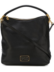 Marc By Marc Jacobs Logo Plaque Hobo Bag Black