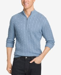 Izod Men's Big And Tall Mock Turtleneck Sweater Ocean