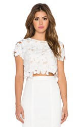 Liv Shelly Cap Sleeve Cropped Top White