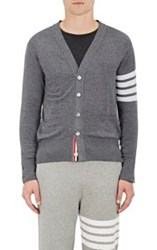 Thom Browne Men's Block Striped Wool Cardigan Black