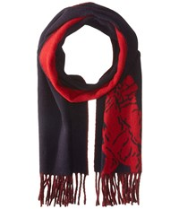 Polo Ralph Lauren Big Pony Jacquard Scarf Hunter Navy Carriage Red Scarves Black