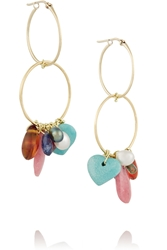 Inez And Vinoodh 18 Karat Gold Multi Stone Earrings