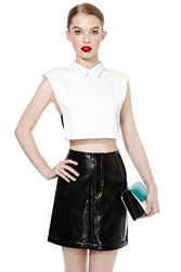Nasty Gal Todd Oldham Pleather Mini Skirt