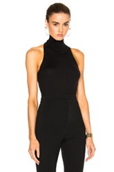 Alexandre Vauthier Sleeveless Turtleneck In Black