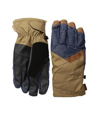 Columbia St. Anthony Gloves India Ink Crossdye Delta Melange Ski Gloves Black