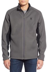 Spyder 'Foremost' Zip Front Knit Sweater Gray