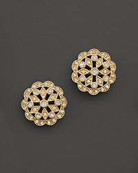 Bloomingdale's Vintage Inspired Diamond Studs In 14K Yellow Gold .25 Ct. T.W. Yellow Gold White Diamonds