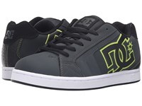 Dc Net Grey Black Green Men's Skate Shoes Multi