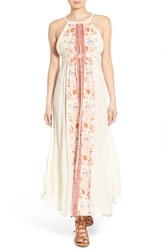 Women's Sun And Shadow Embroidered Maxi Dress