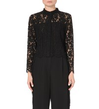 Whistles Chay Lace Shirt Black