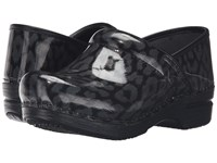 Dansko Pro Xp Iridescent Leopard Women's Clog Shoes Black