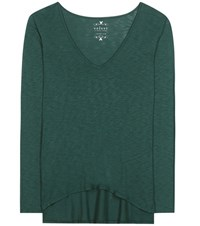 Velvet Sookie Cotton Blend T Shirt Green