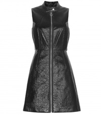 Marc By Marc Jacobs Faux Patent Leather Dress Black