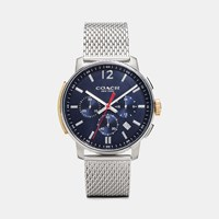 Coach Bleecker Slim Stainlesss Steel Mesh Strap Watch Navy