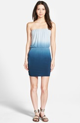 Young Fabulous Broke 'Freya' Strapless Dress Cobalt Ombre