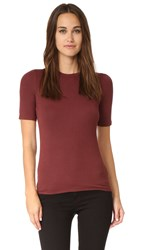 Atm Anthony Thomas Melillo Micromodal Ribbed Short Sleeve Tee Rust