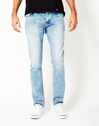 Calvin Klein Washed Slim Jeans Blue