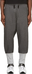 Y 3 Grey Ribbed Trim Hero Lounge Pants