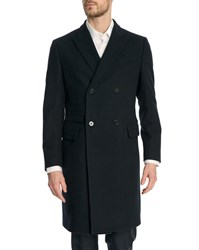 Gant Navy Blue Wool Double Breasted The Doubler Coat