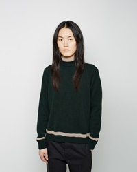 Marni Stripe Cashmere Turtleneck Cypress