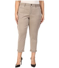 Nydj Plus Size Reese Relaxed Jeans In Colored Chino In Silver Elm Silver Elm Women's Jeans Beige