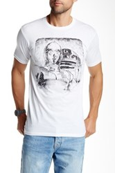 Mighty Fine Droid Vintage Ballpoint Tee White