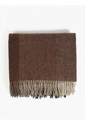 Paul Smith Brown Checked Lamb's Wool Blanket Scarf