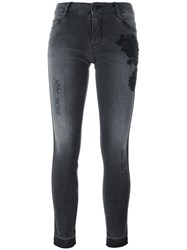 Ermanno Scervino Beaded Detail Skinny Jeans Grey