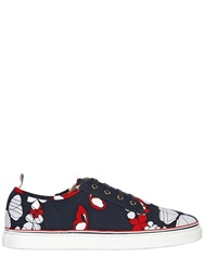 Thom Browne Butterfly Printed Cotton Canvas Sneakers