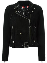 Htc Hollywood Trading Company Cropped Biker Jacket Black