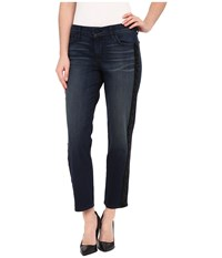 Cj By Cookie Johnson Pearl Straight Jeans W Beaded Sequin Trim In Bootsie Bootsie Women's Jeans Blue