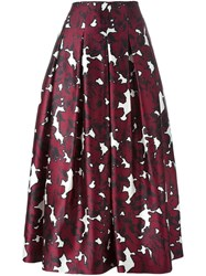 Oscar De La Renta Floral Print Skirt Pink And Purple