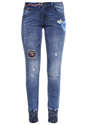 Desigual Slim Fit Jeans Denim Dark Blue Dark Blue Denim