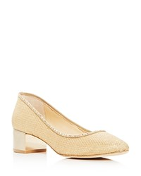 Imagine Vince Camuto Hetty Metallic Mid Heel Pumps Gold