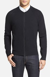 Kenneth Cole Men's New York Full Zip Merino Wool Blend Sweater