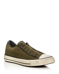 Converse X John Varvatos Chuck Taylor All Star Slip On Sneakers Green White