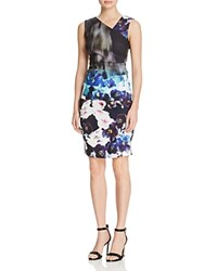 Nicole Miller Printed Tucked Dress Multi