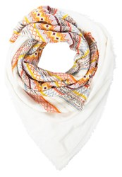 S.Oliver Scarf White Placed Print Off White