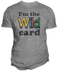 Changes Men's Uno Wild Card Graphic Print T Shirt Oxford