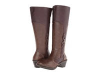 Lobo Solo Robin Wide Calf Chocolate Leather Women's Wide Shaft Boots Brown