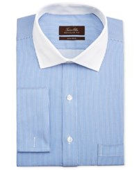 Tasso Elba Men's Classic Fit French Cuff Striped Dress Shirt Only At Macy's