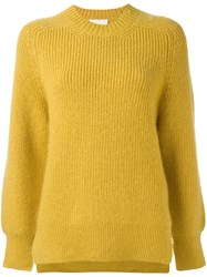 3.1 Phillip Lim Crew Neck Jumper Yellow Orange