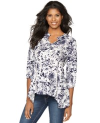 A Pea In The Pod Maternity Split Neck Floral Print Blouse