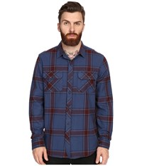 Tavik Vincent Woven Night Shade Men's Long Sleeve Button Up Blue