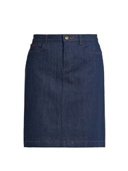 A.P.C. Jupe High Waisted Denim Skirt Indigo
