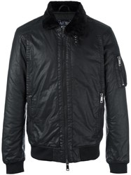 Armani Jeans Zipped Bomber Jacket Black
