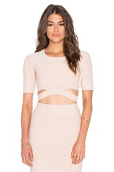 Bcbgmaxazria Clarissa Cutout Crop Top Blush