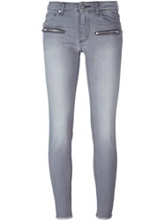 Zadig And Voltaire 'Eva' Cropped Jeans Grey