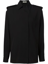 Thierry Mugler Mugler Military Style Shirt Black